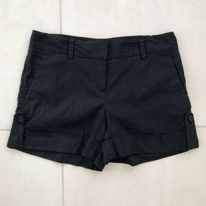Theory Navy Ruby Pockets Linen Blend Cuffed Shorts